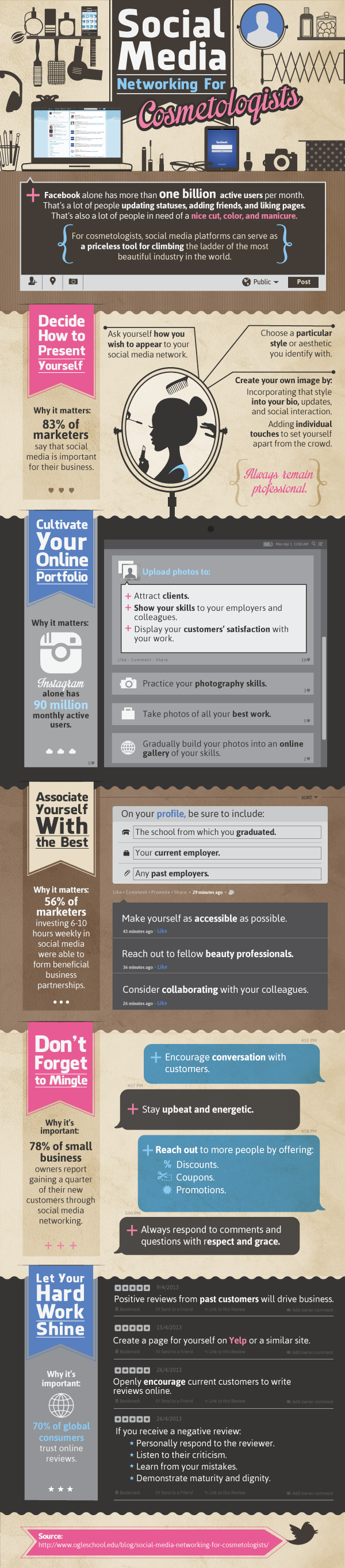 social media networking for cosmetologists infographic